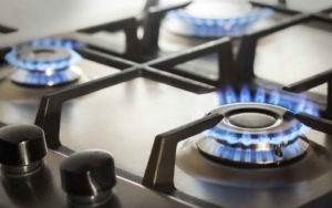 natural gas on stove