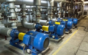 a pump room filled with new pumps