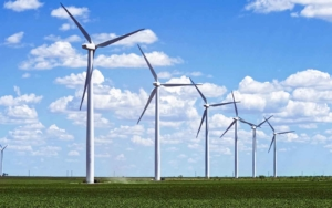 renewable energy Wind Turbines in a field