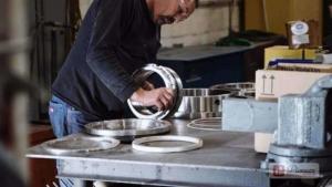 engineer assembling parts